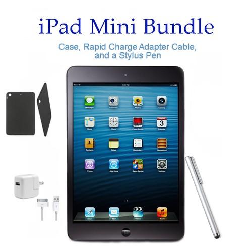 Apple iPad mini WiFi Black Bundle (iPad, Case, Charger, Stylus)