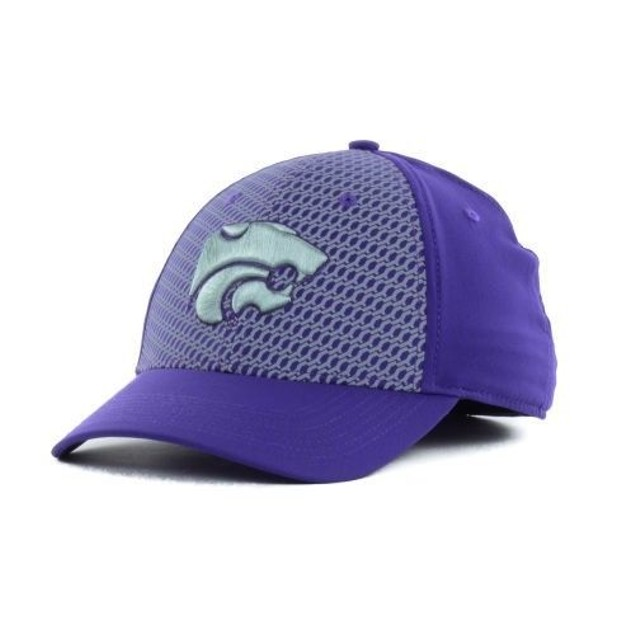 "Kansas State Wildcats NCAA Nike ""Chain Maille"" Swoosh Flex Fitted Hat"