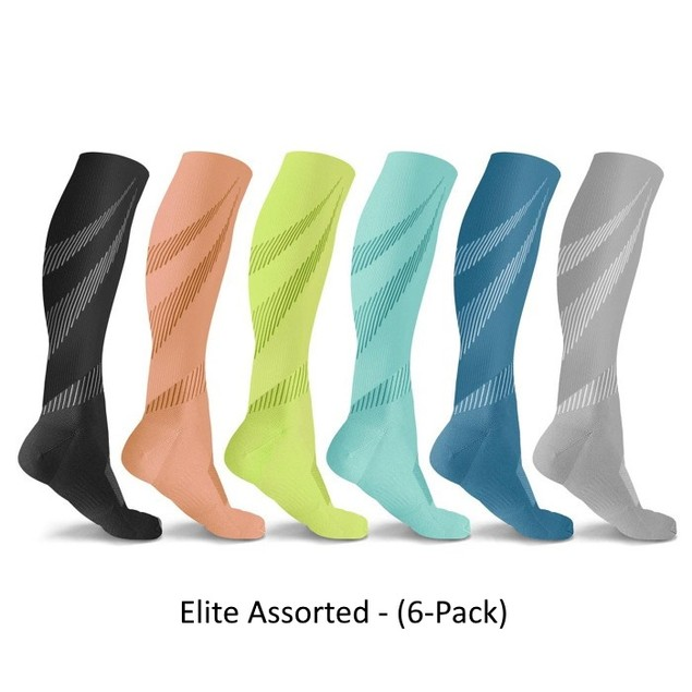 6 Pairs of DCF Knee-High Compression Socks