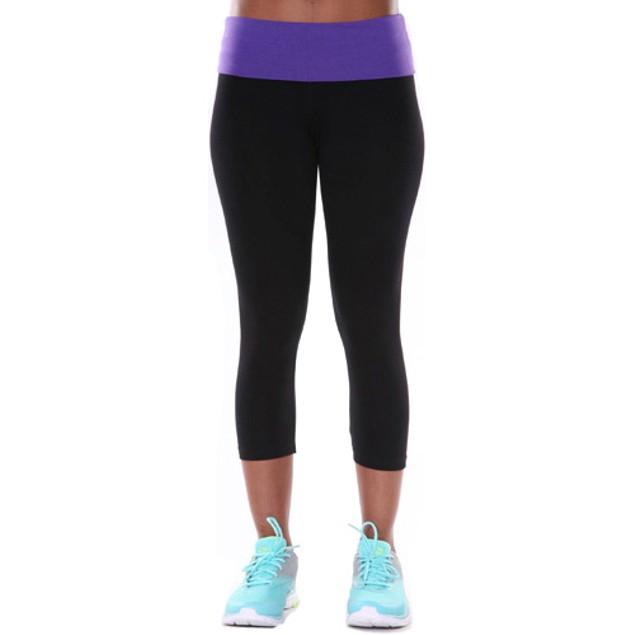 Purple Yoga Capri Pant