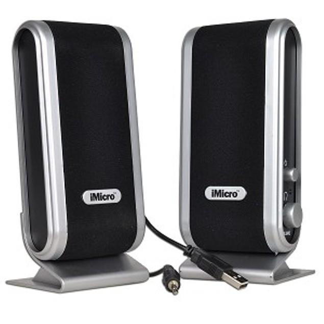 iMicro 2-Piece 2 Channel USB Powered Multimedia Speaker Set w/Headphone Jack