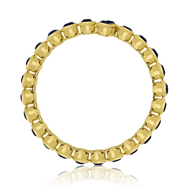 10ct Crystal Bezel Set Bangle Bracelet