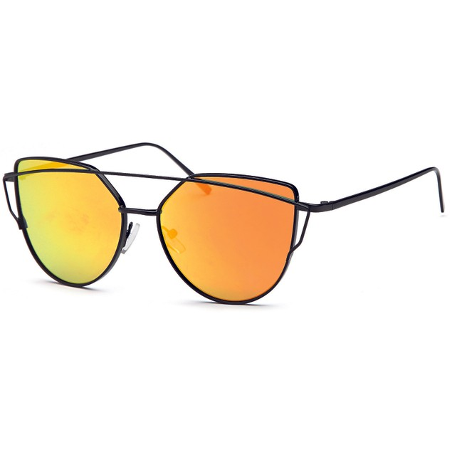 Double Bridge Inspired Black Women Sunglasses