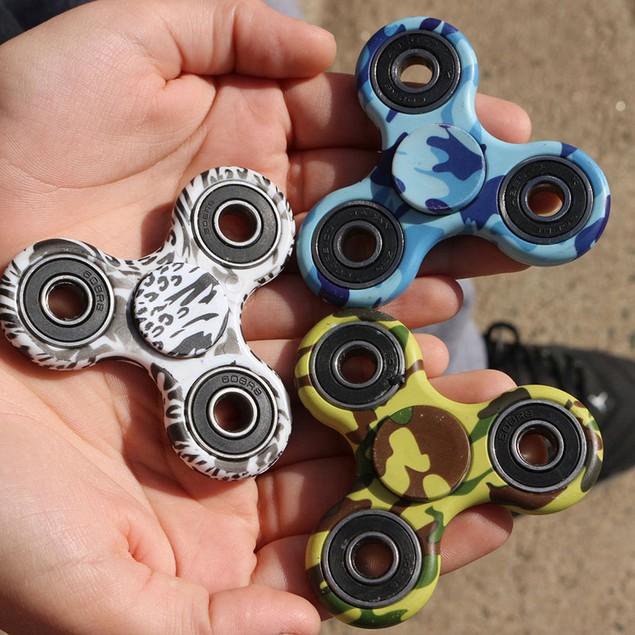 5-Pack Tri-Spinner Fidgets Anti Stress Sensory Fidget Spinner