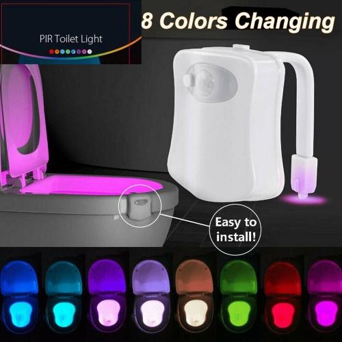 3-Pack Motion Sensor LED 8 Color Toilet Bowl Night Light