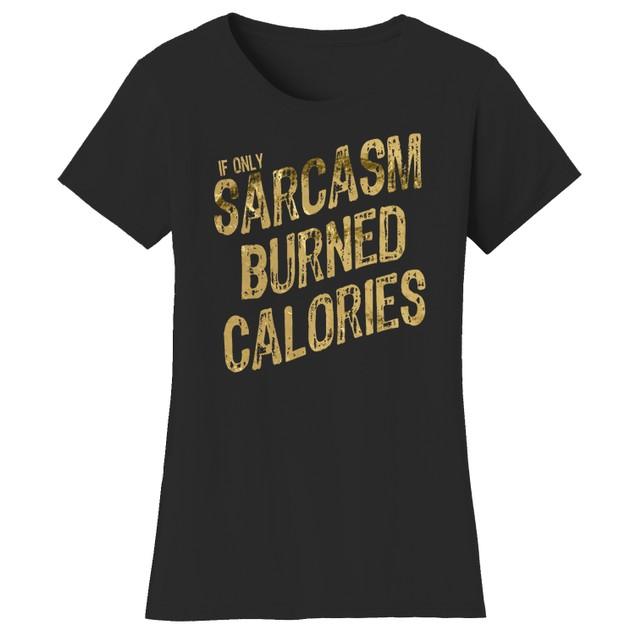 Sarcasm Short Sleeve Crew Neck Graphic Tshirt