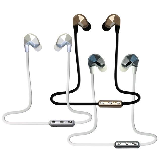 Sleek Design Metallic Hands-Free Bluetooth Earbuds