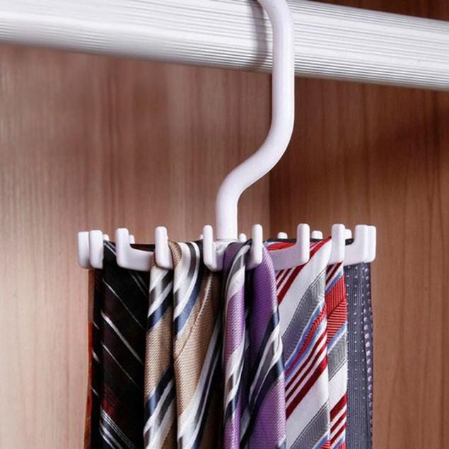Rotating 20 Hook Neck Tie Holder