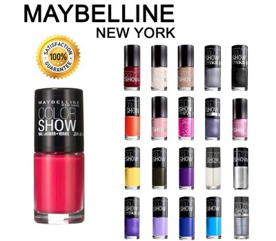 10-Pack Maybelline Color Show Finger Nail Polish Collection Set