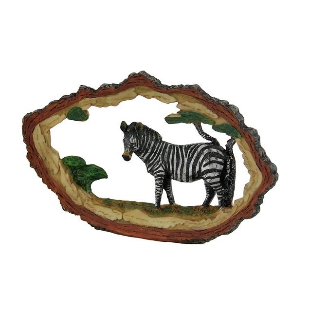 Tree Trunk Vistas Zebra Safari Decorative Carving Statues