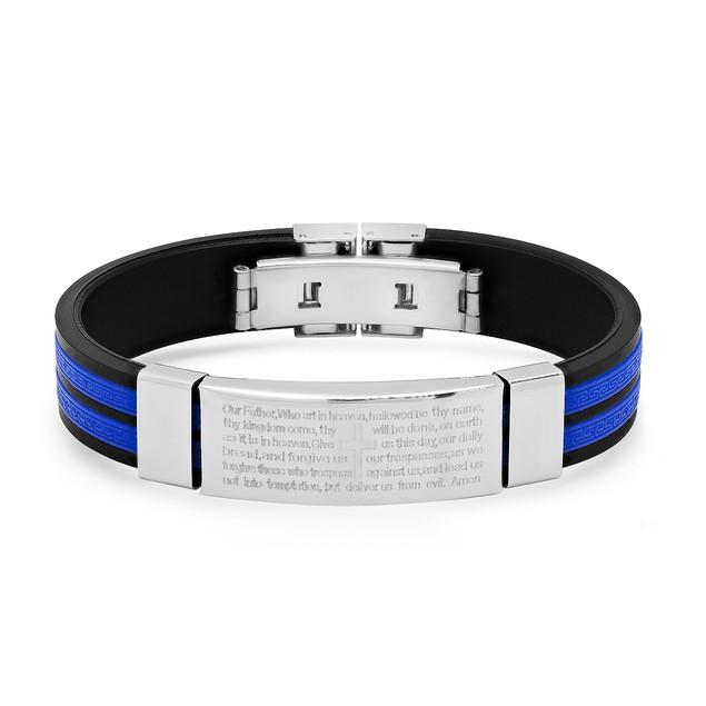 Rubber Stainless Steel Bracelet