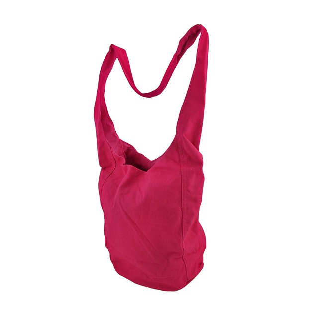 Bright Neon Pink Cotton Canvas Sling Bag Womens Shoulder Handbags