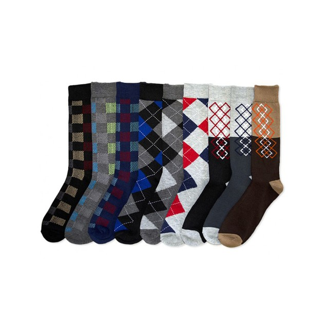 Mens Crew Dress Socks (12-Pack)