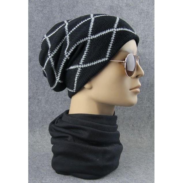 Men's Criss-Cross Beanie Hat - Assorted Colors