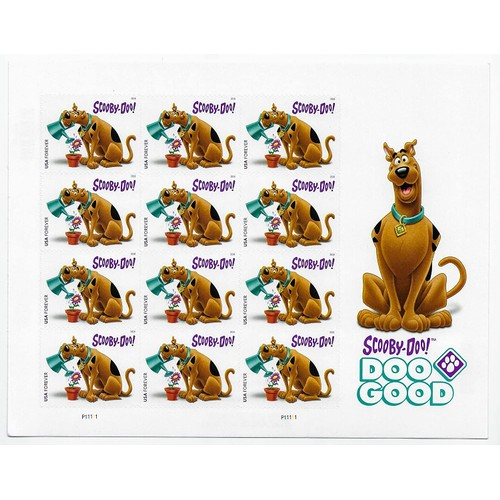 12 Pack Scooby-Doo! Forever Stamp by USPS