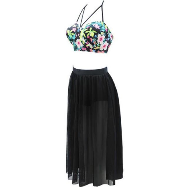 Plus Size Skirt Swimsuit