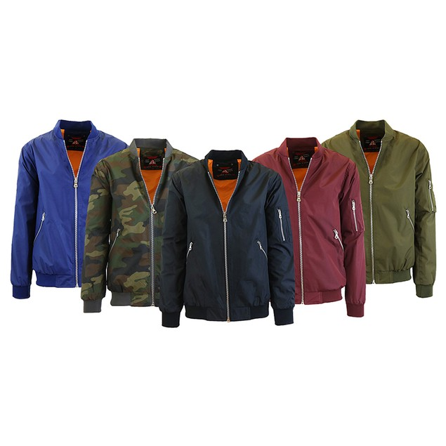Men's Lightweight Bomber Flight Jacket