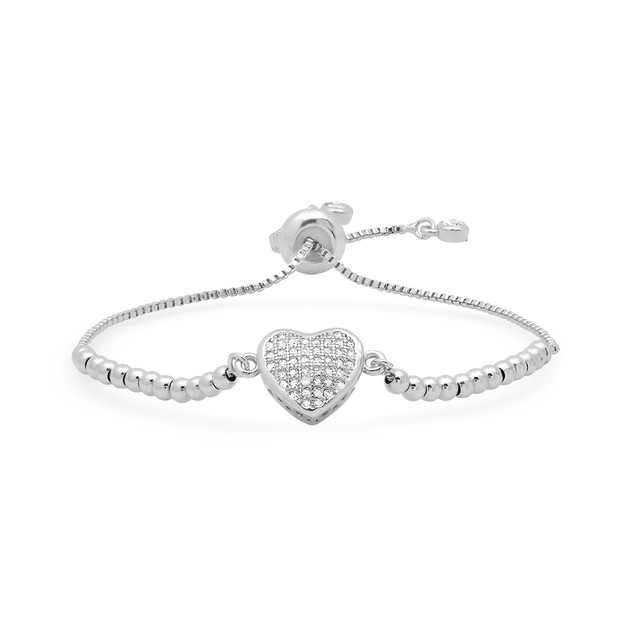 Drawstring Heart Bracelet- 3 Colors