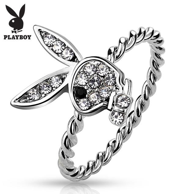 Gem Playboy Bunny Rope Ring