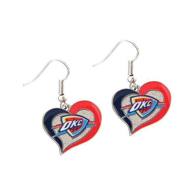 NBA Swirl Heart Shape Dangle Logo Earring Set Charm Gift