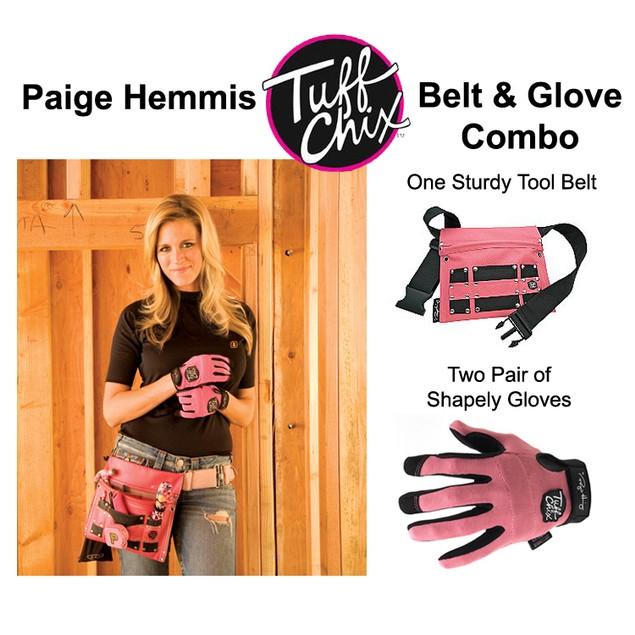 Paige Hemmis Tuff Chix Tool Belt and 2 Pairs of Gloves