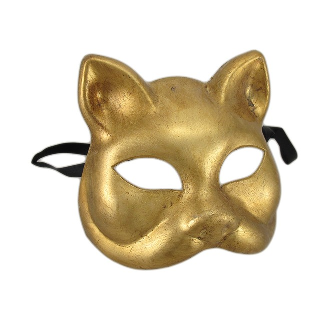 Set Of 3 Gold And Silver Finish Half Face Womens Costume Masks
