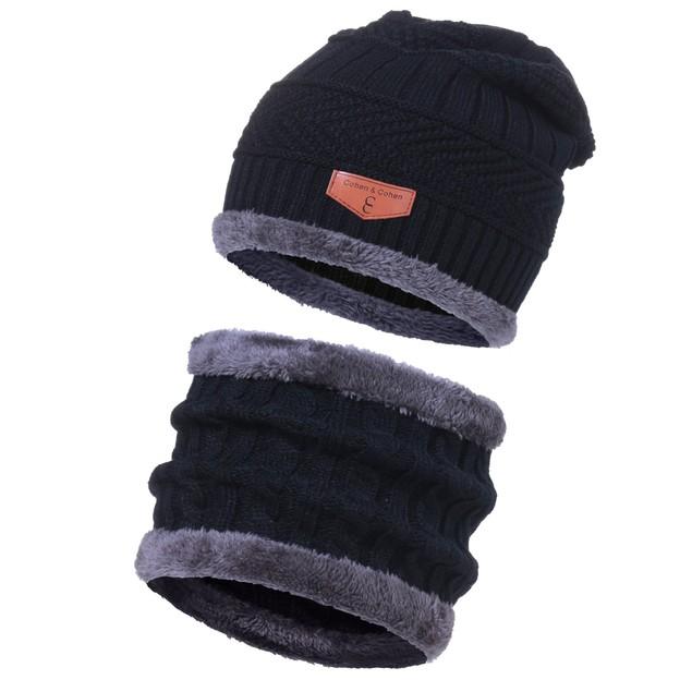 CC Chic Mens Fleece Beanie + Scarf Set