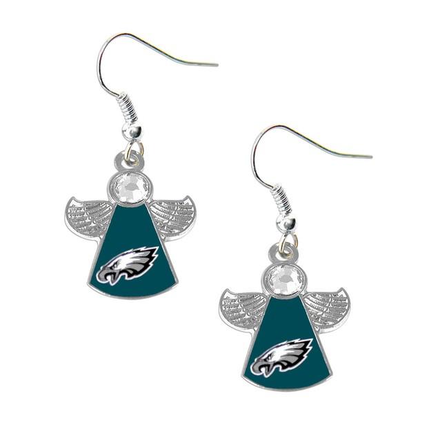 NFL Crystal Angel Wings Dangle logo Earring Charm Gift Set