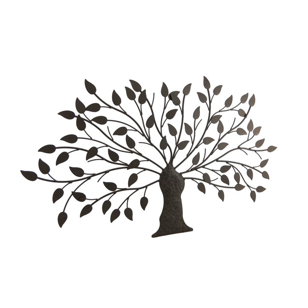 Leafy Metal Tree Sculptured Wall Hanging Wall Sculptures
