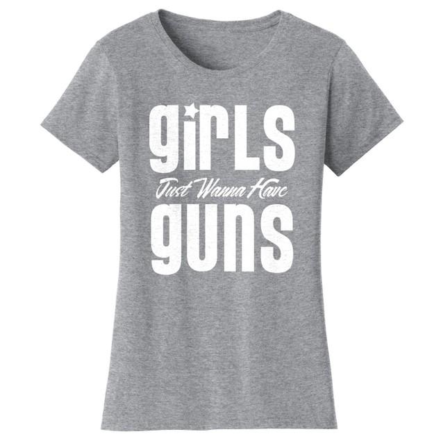 GirlsGuns Short Sleeve Crew Neck Graphic Tshirt