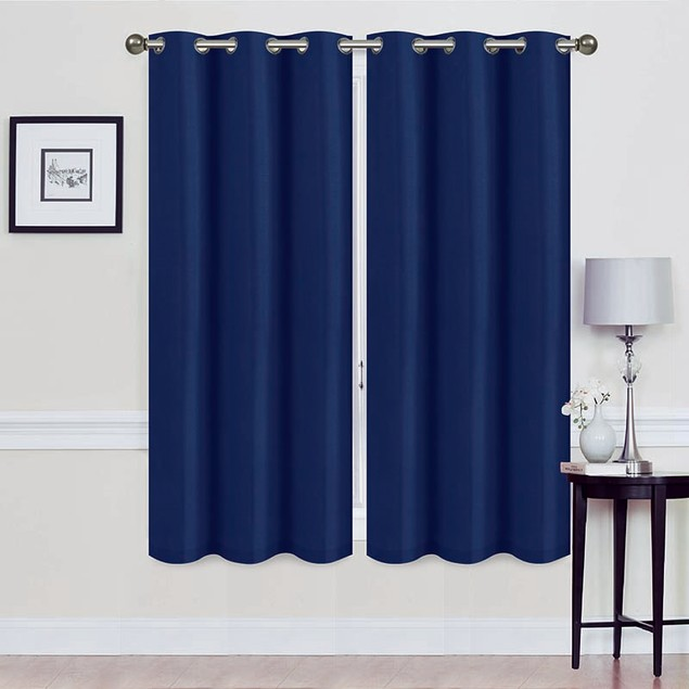 2-Pack Foam Backed Blackout Curtain Panel