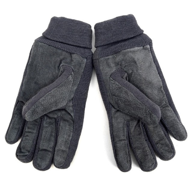 2-Pack Men's Genuine Leather Winter Gloves with Soft Acrylic Lining