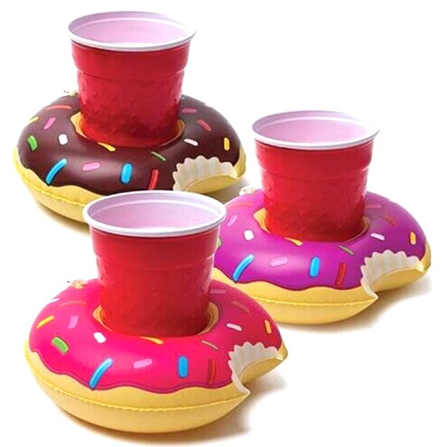 3-Pack Inflatable Pool Party Drink Floats