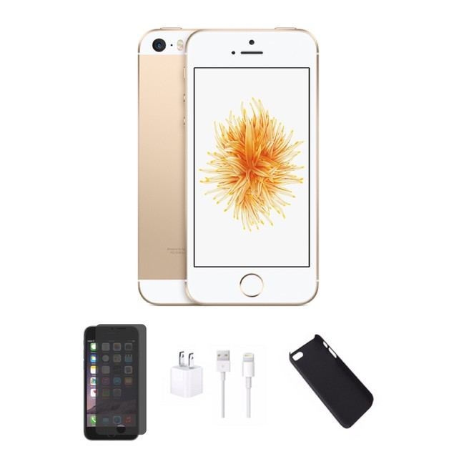 Apple iPhone SE 4G Unlocked Bundle (Case, Charger, Screen Protector)