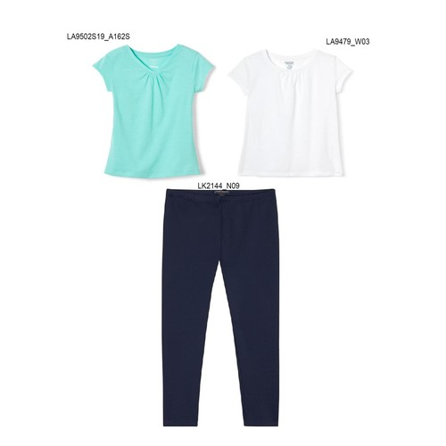 3-Pack French Toast Girls Summer Set - Solid Colors