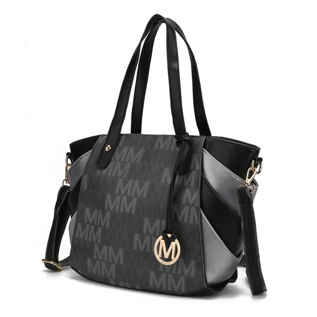 Mia K. Collection Estella Signature Satchel Bag
