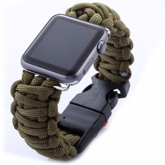 iPM Weave Replacement Watch Band with Whistle & Flint for Apple Watch