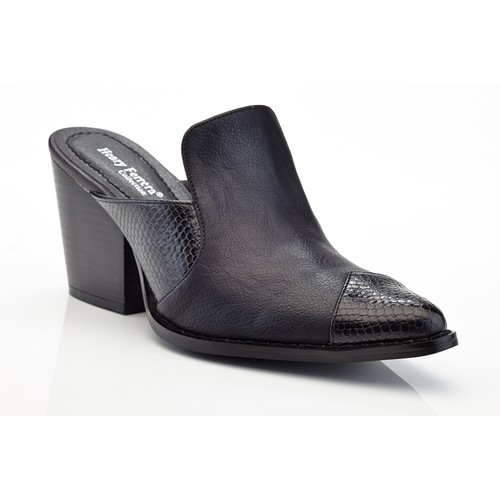 Henry Ferrera Texas Women's Slip-On Chunky Heel Western Mules