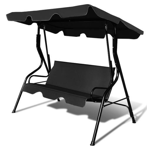 Costway Patio 3 Seats Canopy Swing