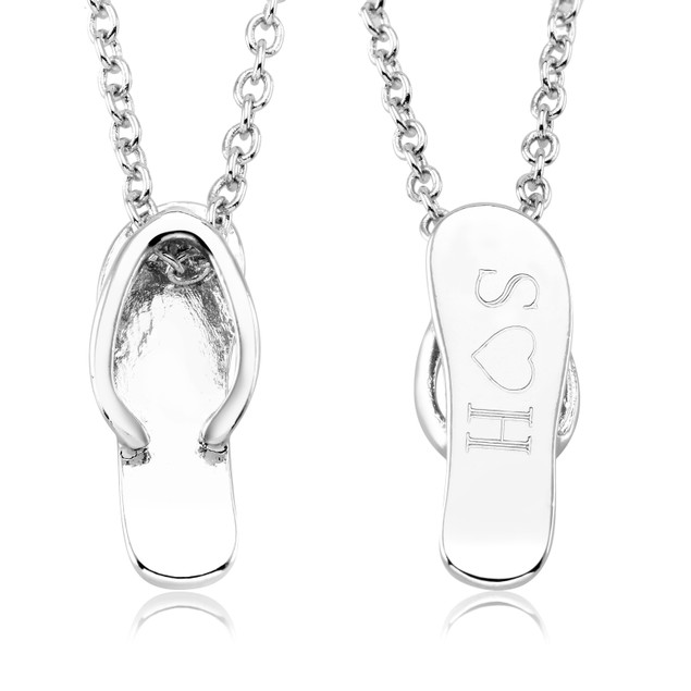 Personalized Summer Flip Flop Necklace