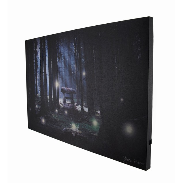 Enchanted Forest Flickering Led Lighted Canvas Prints