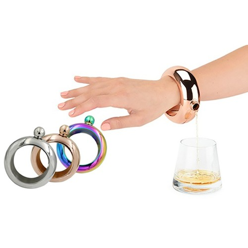 Stainless Steel Portable Bracelet Flask 3.5oz
