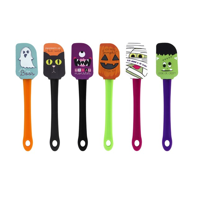 6-Pack Halloween Silicone Spatulas