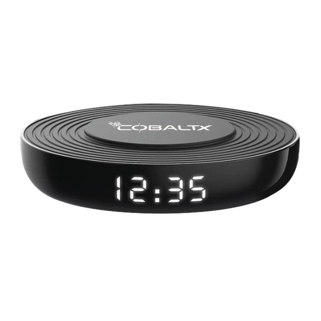 CobaltX Wireless Charging Pad with added Digital LED Clock