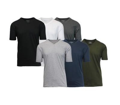 6-Pack Men's Short Sleeve V-Neck Tee Was: $149.99 Now: $29.99.