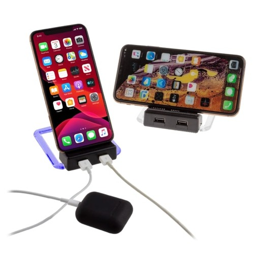 2-Pack Xtreme Power Rotating Wireless Charger w/ 2 USB Ports