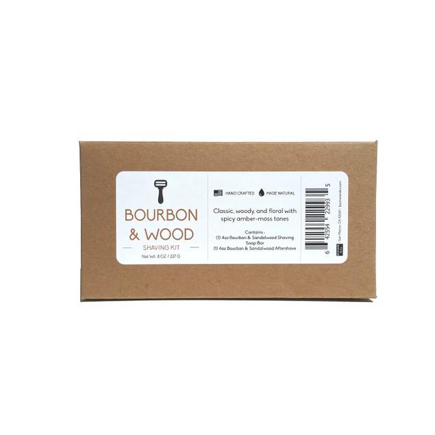 Bourbon & Sandalwood Shaving Kit