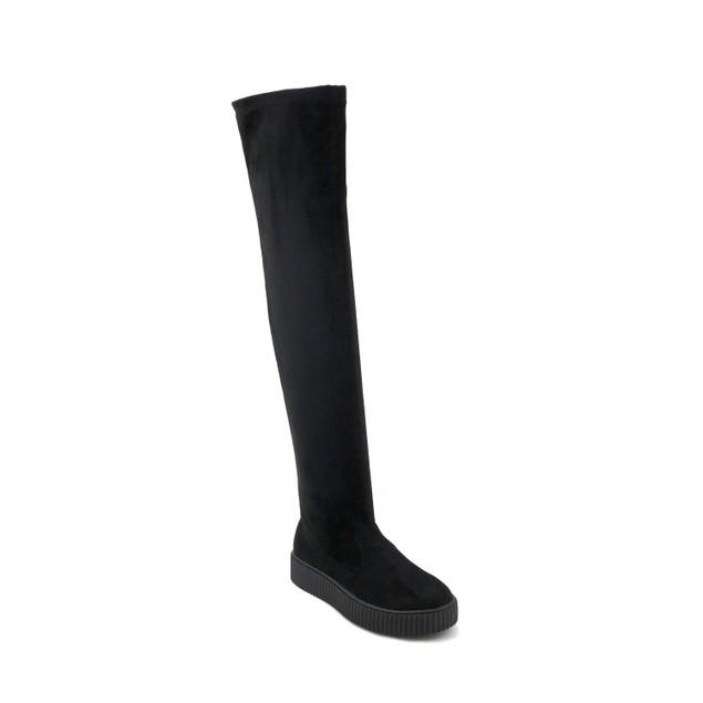 Olivia Miller 'Holbrook' Sneaker Bottom Velvet Over the Knee Boots