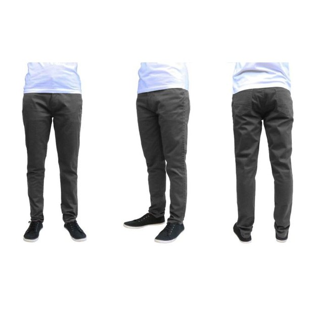 Men's Galaxy By Harvic Cotton Stretch Straight Leg  Slim Fit Pants