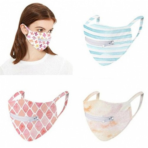 5 Pack: Washable Zipper Mask